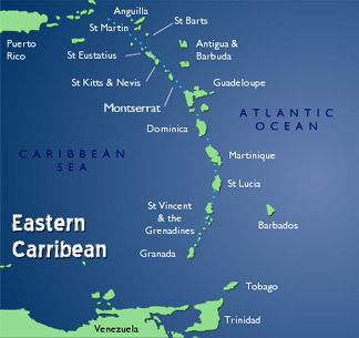 Eastern Caribbean Map