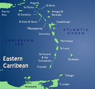 Eastern Caribbean Map