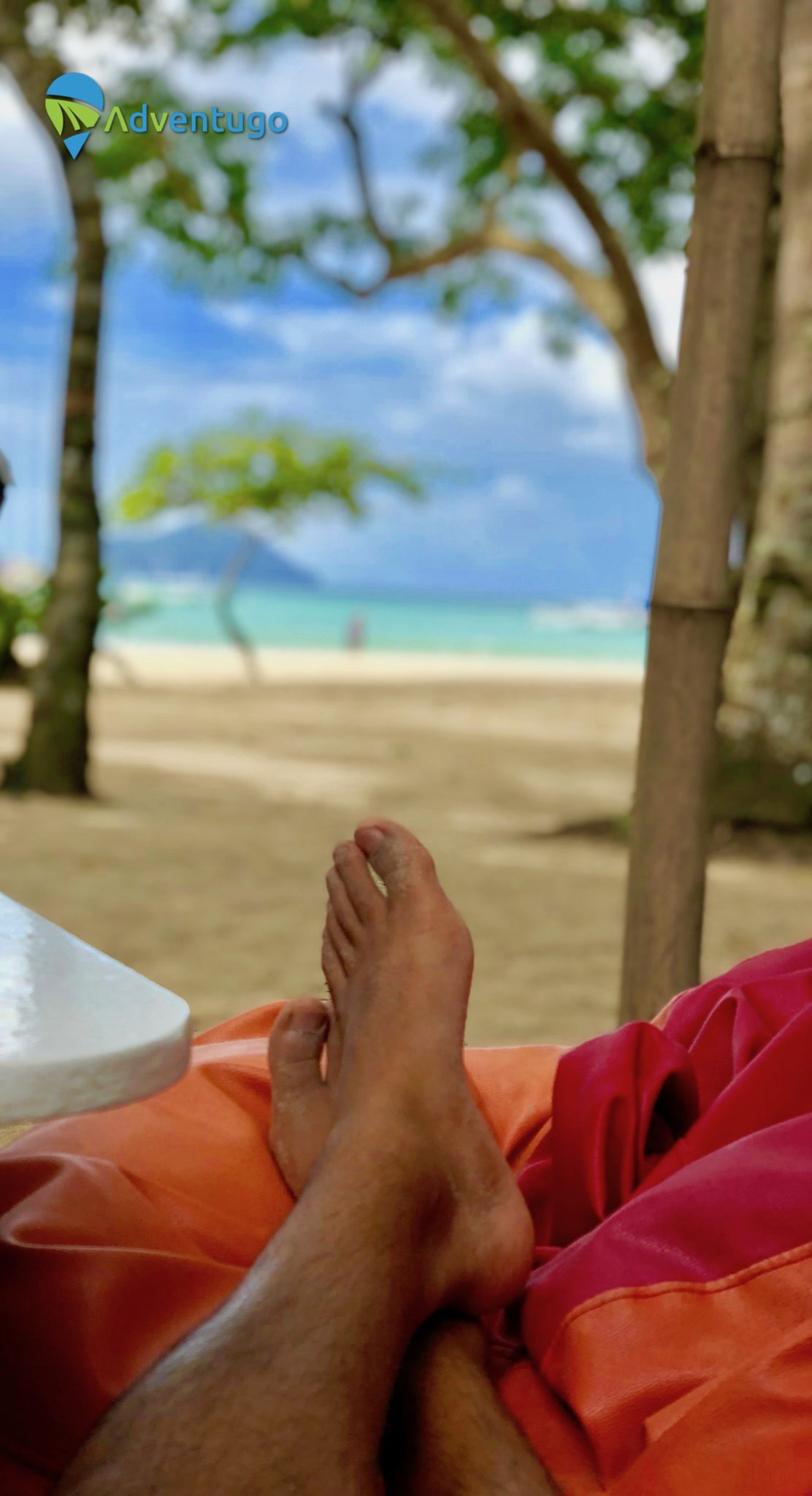 Chilling out at Lio Beach El Nido, Philippines. Feet