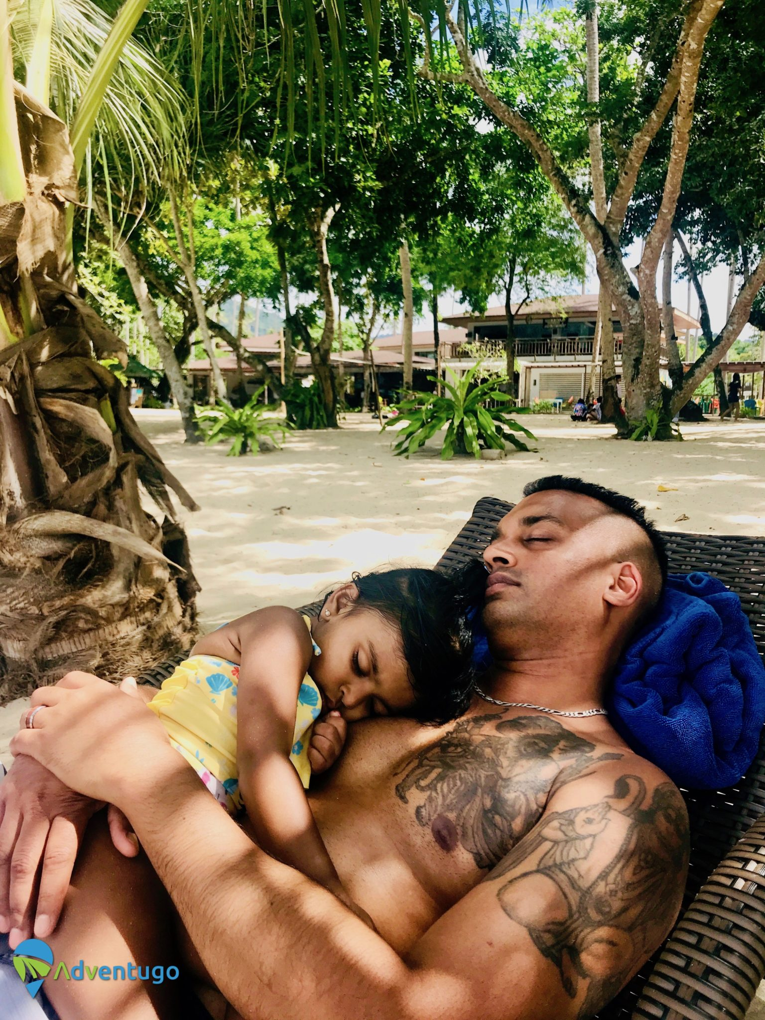 Napping with My Baby at Lio Beach, El Nido Philippines