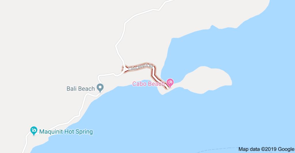 Cabo Beach Map, Coron Philippines