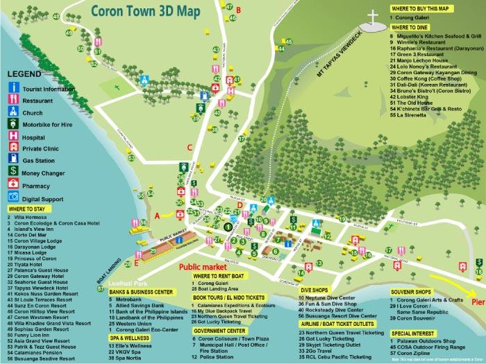 Coron, Palawan Map. Philippines Maps