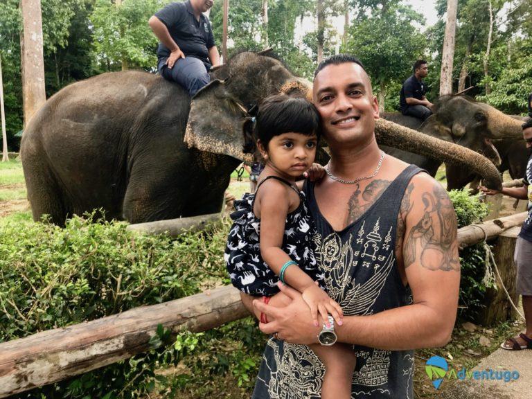 Sean and Natasha in Malaysia at the Elephant sanctuary
