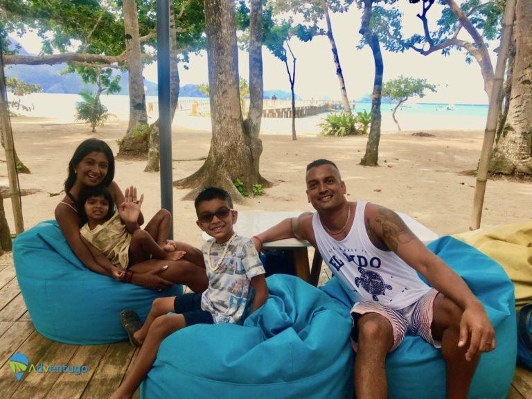 The Rampersauds at Lio Beach, Philippines