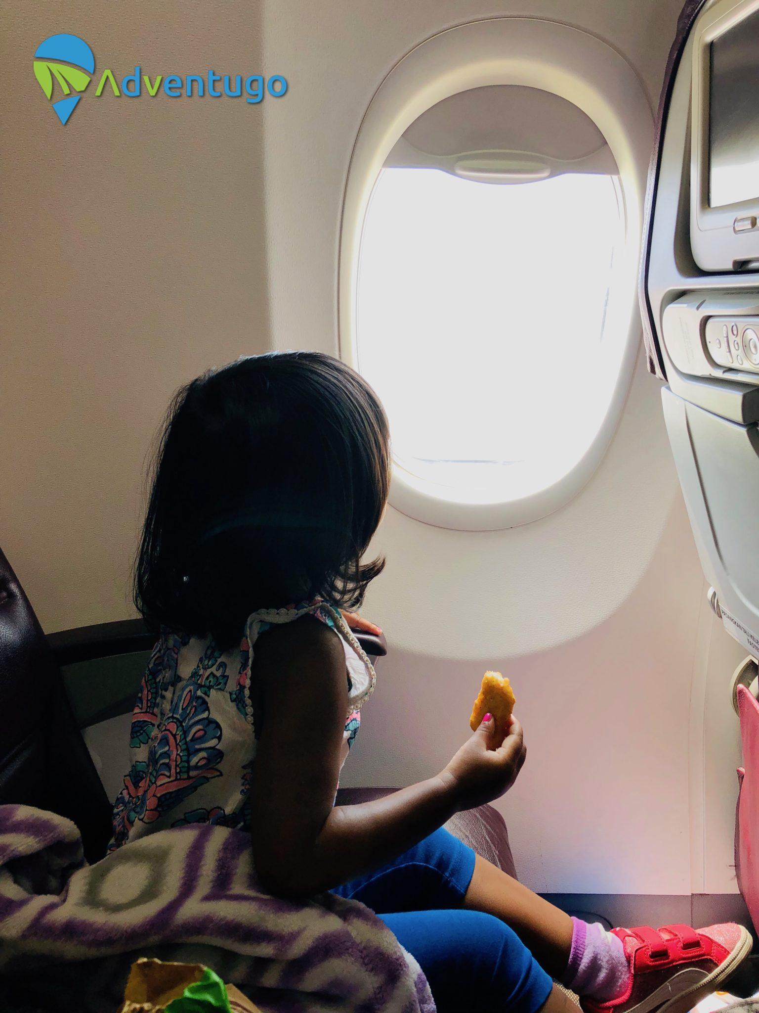 Travel Family. Baby Natasha loves flying